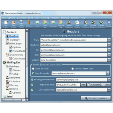 Gammadyne Mailer  software v 41,0  (   support. all smtp)  LIFETIME LICENSE